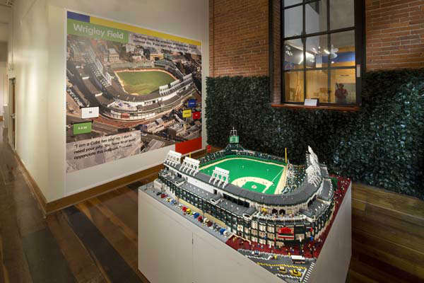 A replica of Wrigley Field built entirely of 57,960 Lego bricks is part of Big Leagues, Little Bricks exhibit running through September at Louisville Slugger Museum &amp; Factory in Louisville, KY.   <span class=meta>(Photo&#47;James Moses)</span>